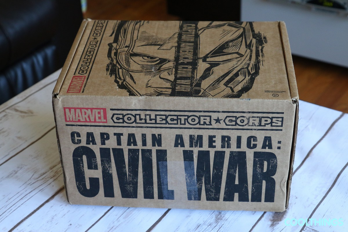 Marvel Collector Corps Captain America Civil War April 2016 Subscription Box