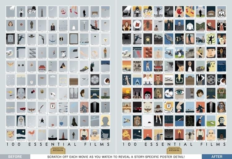 Pop Chart Lab 100 Essential Films Scratch Off