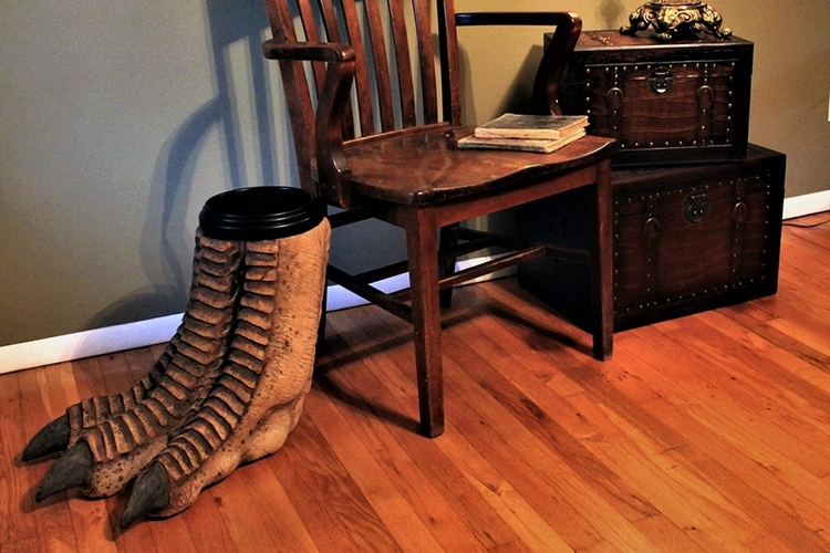 regal-robot-faux-dinosaur-foot-waste-basket-2