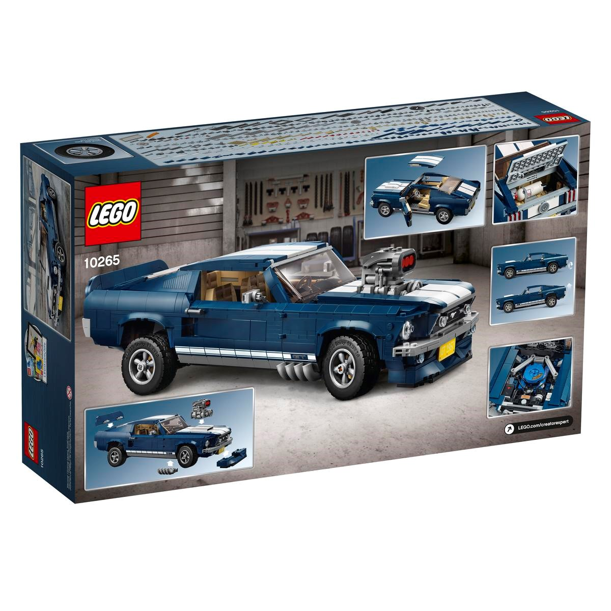 Ford Mustang Lego Creator 10265 Set Box Back Coolthingscom Cool