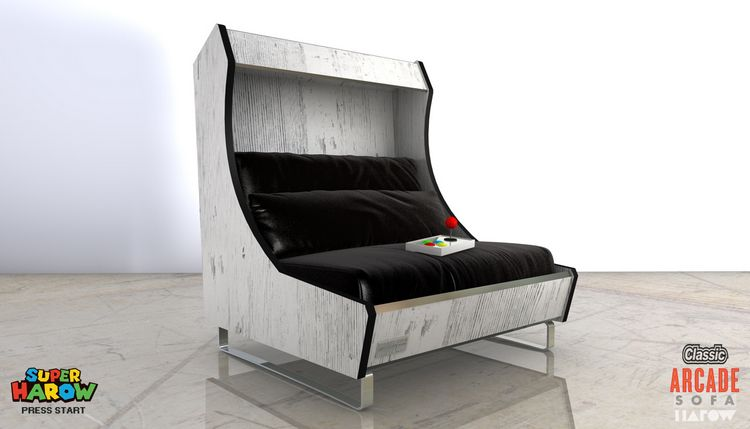 Harow Arcade Sofa Black